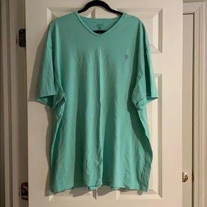Polo Ralph Lauren Teal V Neck T Shirt